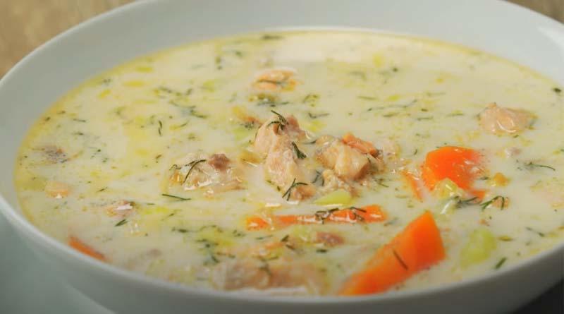 Суп-пюре с рыбой