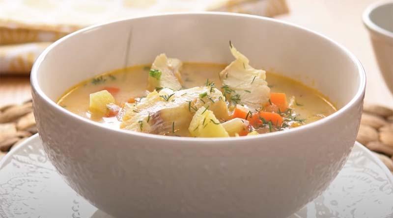 Суп из окуня со сливками