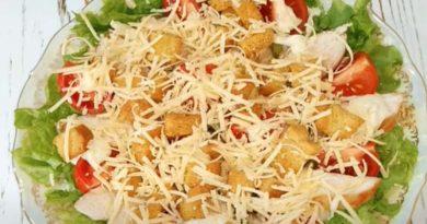 Салат цезарь с курицей — правильный рецепт
