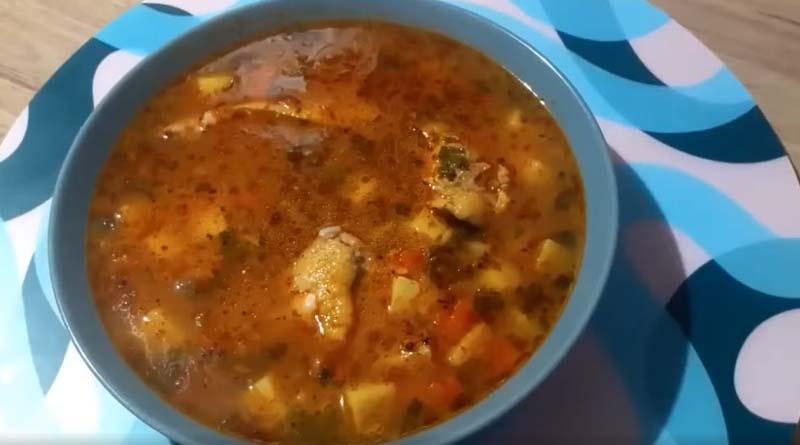 Куриный суп с томатом