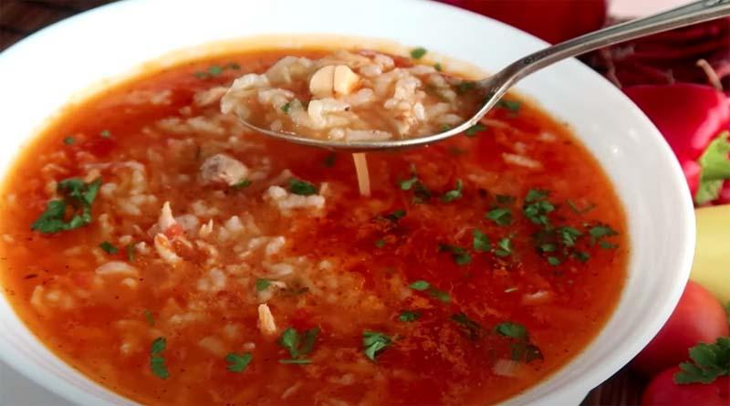 Густой суп харчо с рисом